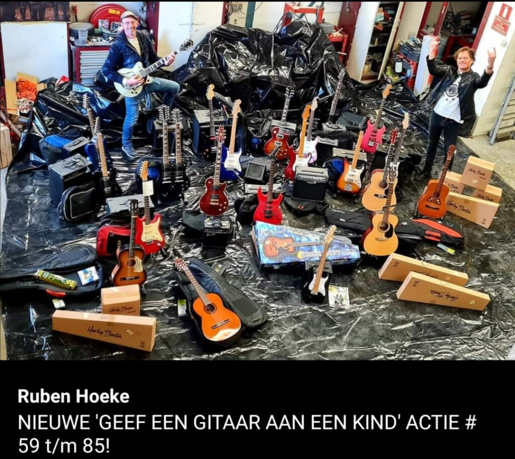 Geef een gitaar voor een kind, Ruben Hoeke, Edwin Olthof,